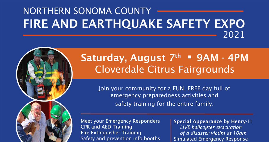 Northern Sonoma County Fire and Earthquake Safety Expo 2021